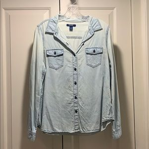 Old Navy Light Jean Button Down